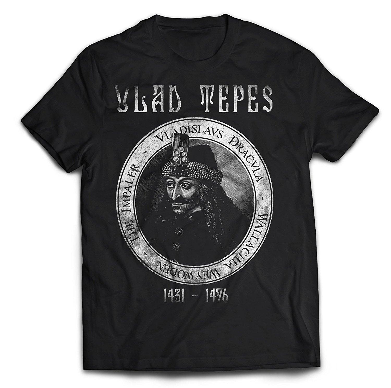 Hot Sale Men's Retro Print Design Vlad Tepes T Shirt