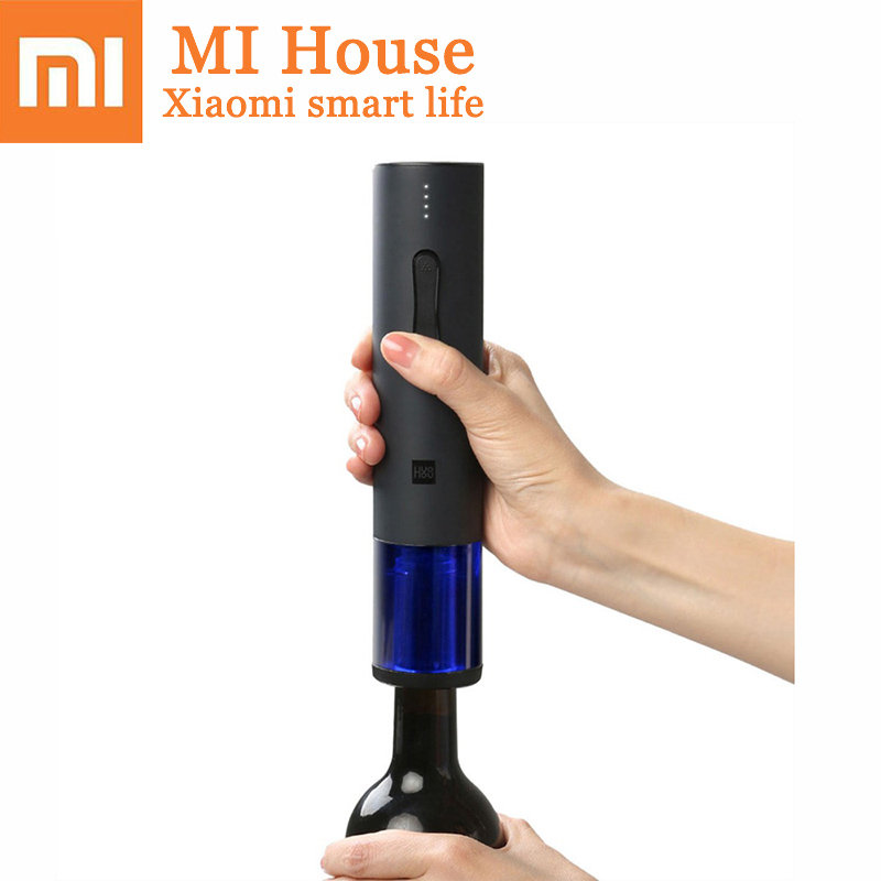 Xiaomi Huohou Electric Wine Bottle Turn on Automatic Kit Electric Corkscrew Wine With Foil Cutter