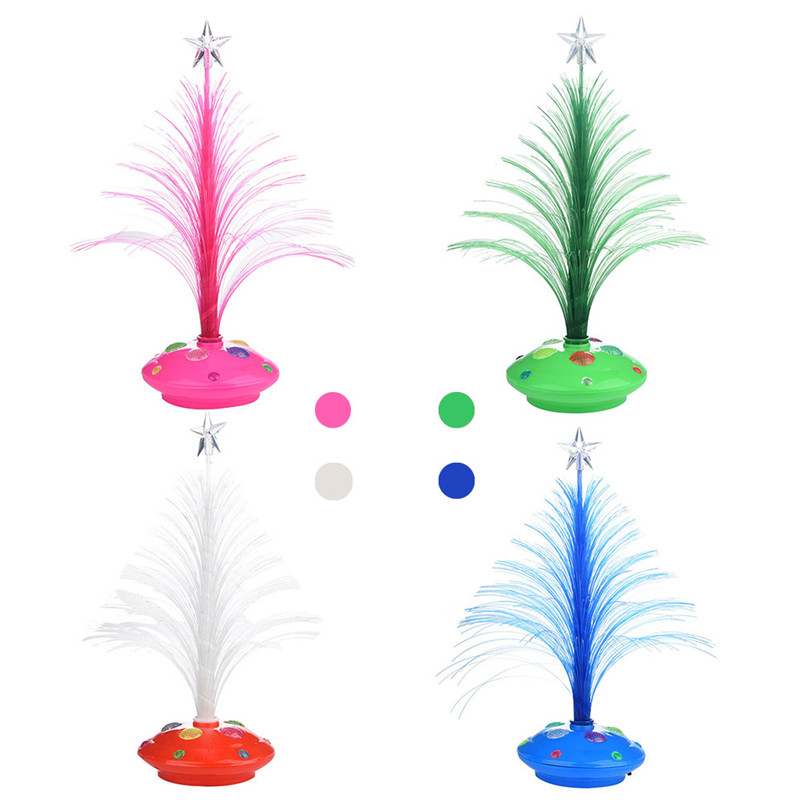 New LED Colorful Changing Mini Christmas Tree Decoration Table Party Charm Desk Decorations Gift for Home decor #4o26#f (19)