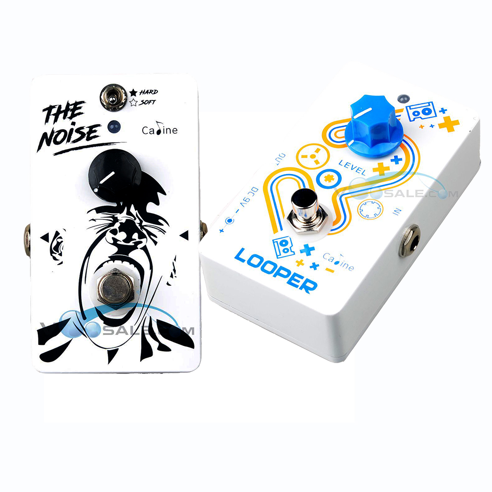 Caline CP-39 Noise Gate Guitar Effect Pedal and Caline CP-33 Looper Guitar Effect Pedal White Color High Quality Recording caline cp 15 heavy metal guitar pedals 3 band powerful adjustable electronic heavy metal guitar effect pedal