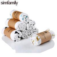Simfamily 1Pc Muslin 100 Cotton Baby Swaddles For Newborn Baby Blankets Black White Gauze Bath