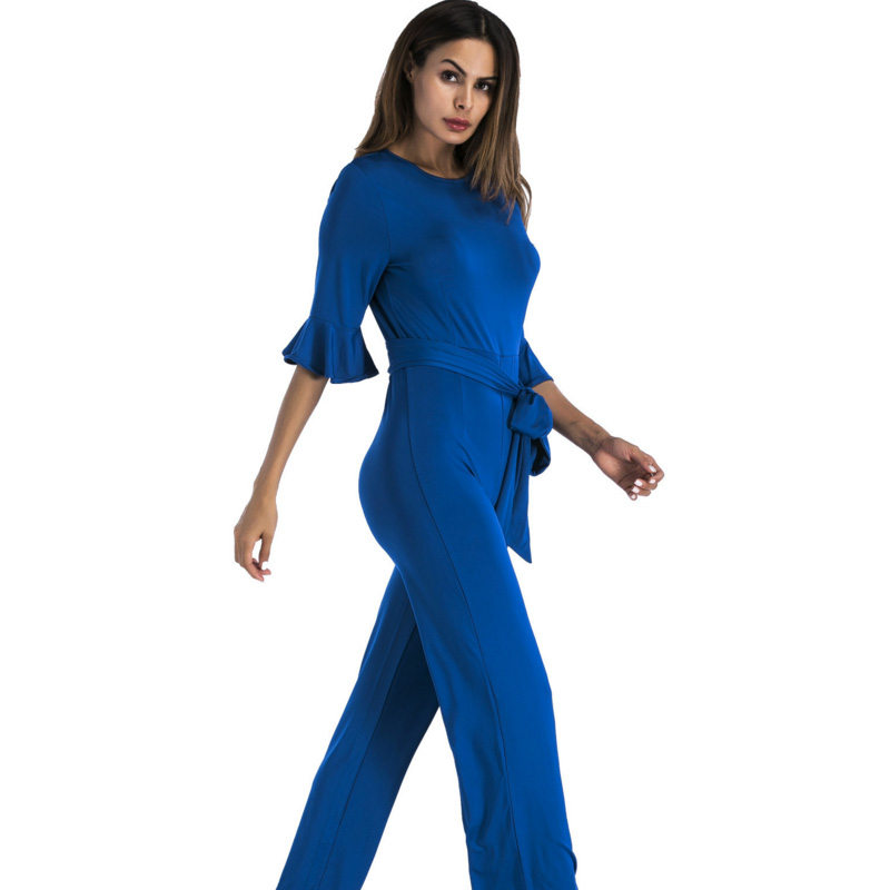 97cb36f3d01 plus size black blue red green wide leg One Piece jumpsuit women clothing  slim Casual party Elegant Combinaison Femme Rompers-in Jumpsuits from  Women s ...