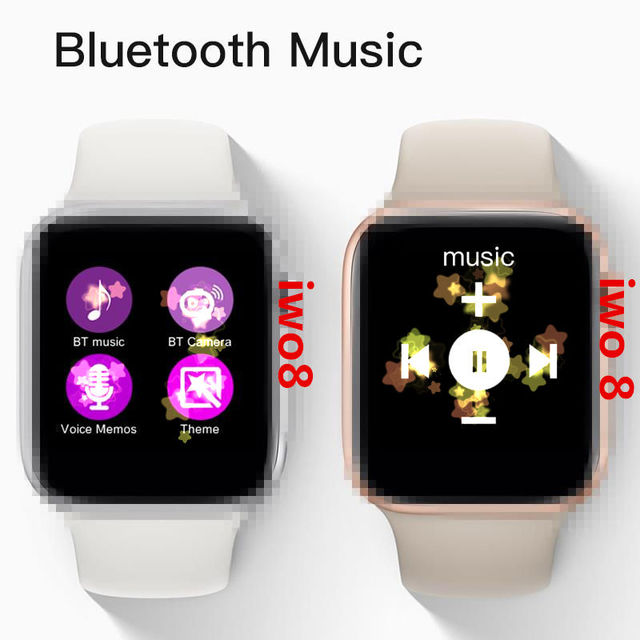 IWO 8+Earphone/Set  44mm IWO8 Smartwatch Support Whatsapp Facebook Answer and Reject Call Smart Phone With Heart Rate Pedometer