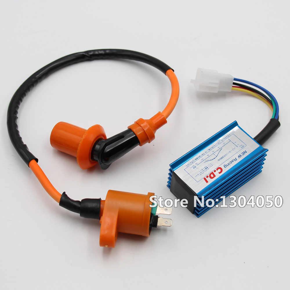 XLYZE Racing 5 Pin AC CDI Ignition Coil Spark Plug For Honda Dio Elite SB50 SA50 Spree SYM DD50 Arnad