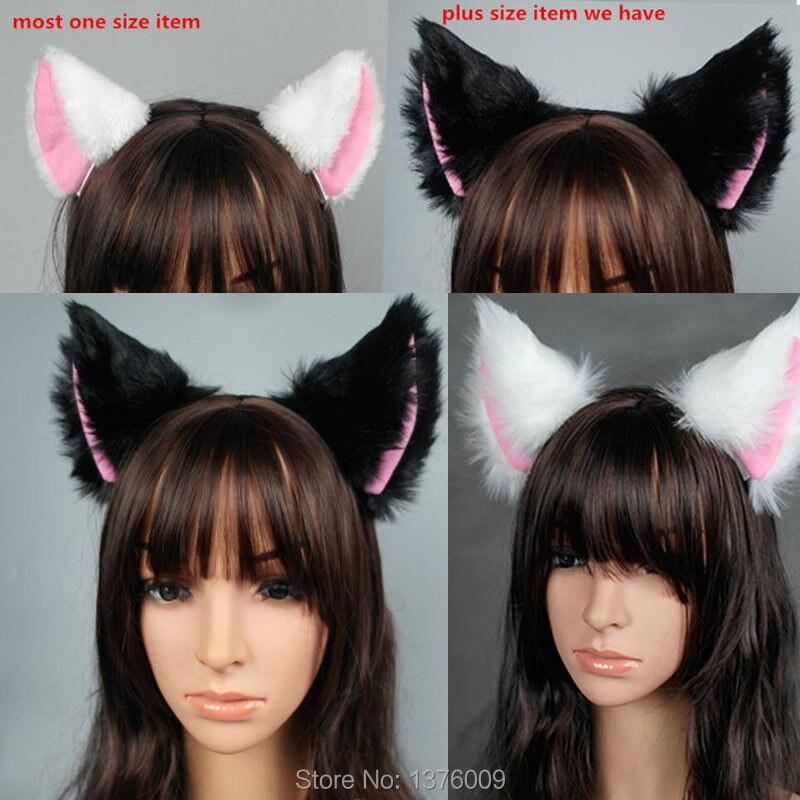 Wolf Ear Headband black /& grey Kawaii anime Cosplay Halloween fancy dress