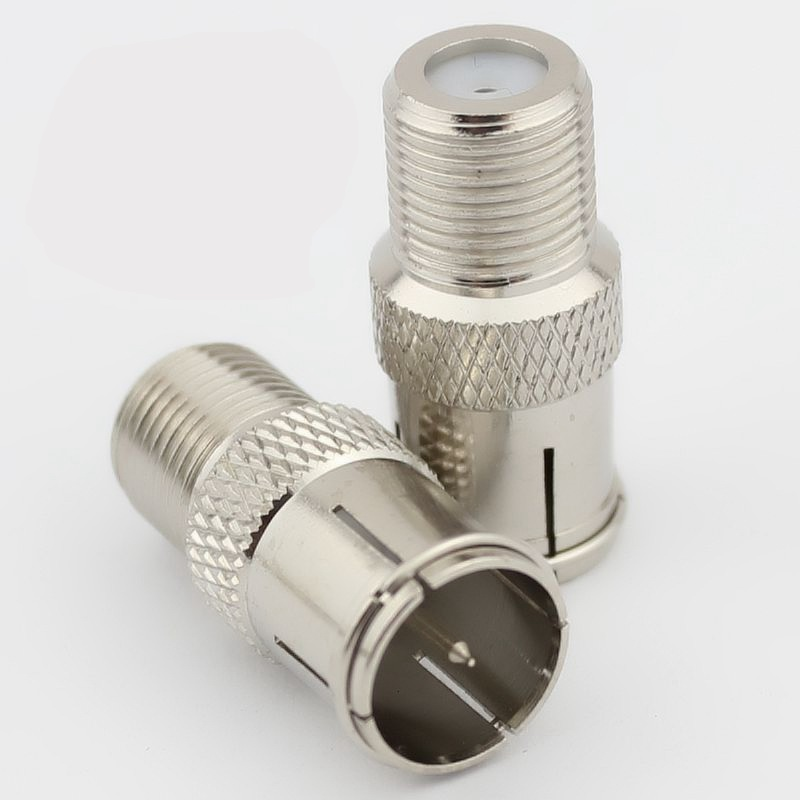 Pure cupper STB quick plug F type to CATV RF connector F Female to CATV Male RF coaxial connector 10pcs/lot 3pcs lot f connector male to pal female jack straight rf coaxial adapter good for f new tv type connector