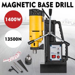 MB-23 de 1400W, prensa de taladro con Base magnética, 23mm, taladro 13500N, pulsación con fuerza magnética