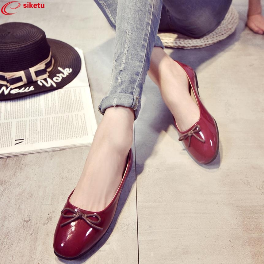 Charming Nice siketu Women Flats Shoes Slip On Comfort Shoes Flat Shoes Loafers Best Gift Drop Shipping Y30 charming nice siketu best gift baby flats tassel soft sole cow leather shoes infant boy girl flats toddler moccasin y30