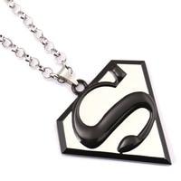 10 Pcs Superman Choker Necklace S Logo Pendant Men Women Gift Movie Jewelry Accessories YS11427