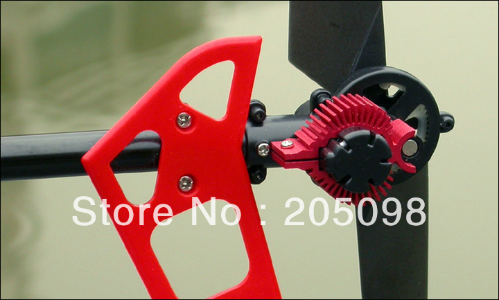 MJX F45 F645 F-45 rc helicopter spare parts F45 Tail motor cooling aluminum (red) F645 tail motor heat sink