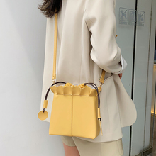 ETAILL Box Shape Bucket Bag Drawstring Shoulder Bag Women's Casual Crossbody Bags New PU Leather Shoulder Bags цена 2017