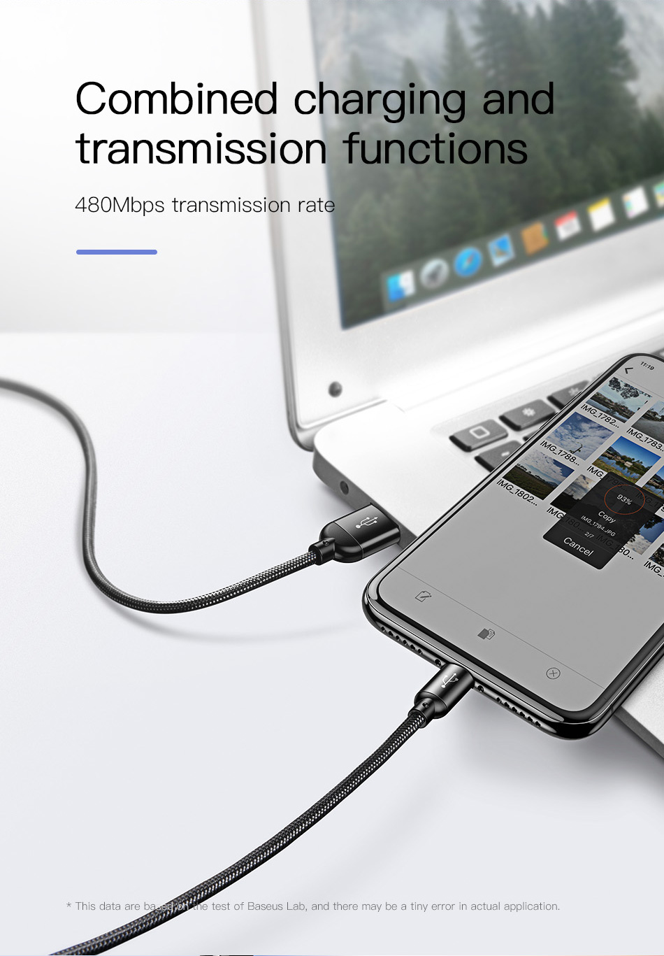 Baseus 3in1 USB Cable for Mobile Phone Micro USB Type C Charger Cable for iPhone Samsung 6 Charging Cable Micro USB Charger Cord 22
