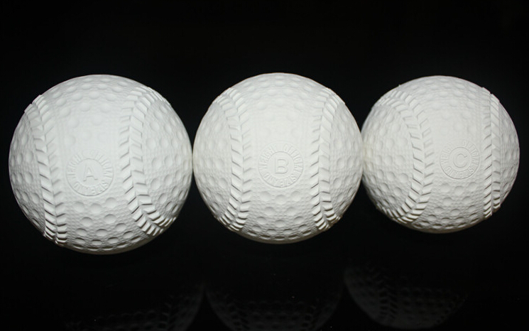 3pcs/set Beginner Rubber soft safety baseball ball for child young men women training safe 3 size
