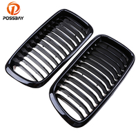 POSSBAY Gloss Black Car Center Kidney Grilles Grill for BMW 7 Series 725tds/728i/728iL/730d E38 Sedan 1994 2001 Front Car Grill