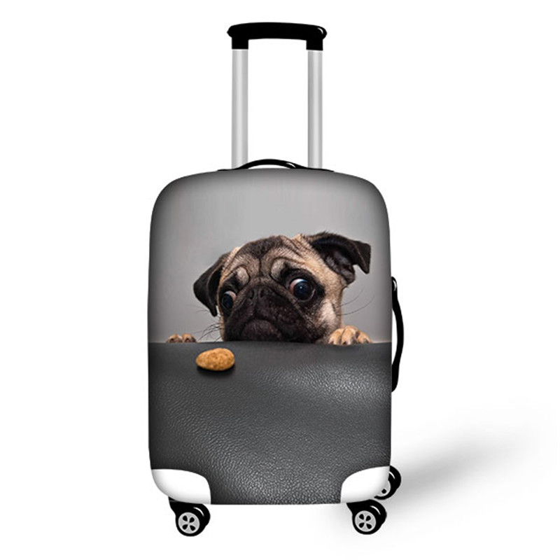 Customized Image Elastic Luggage Protective Covers 28 Inch Trolley Suitcase 3D Animals Dog Cat Print Thick Dust Suitcase Cover