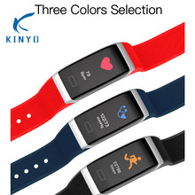Three colors selection Smart Band blood pressure Monitor Smart Bracelet call reminder steps record sports Wristband pk mi band 2(China)