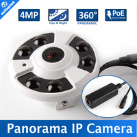 4MP 3MP Fisheye Panorama IP Camera With POE Port 180 360 Degree Wide Angle CCTV Camera