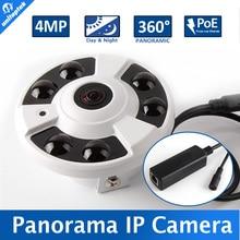 H.265 Panorama IP POE Cámara de $ NUMBER MP/3MP 180/360 Grados gran Angular Fisheye CCTV Cámara de Visión Nocturna Cámara de Seguridad IP Onvif XMEYE