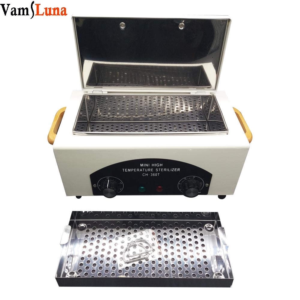 High Temperature Sterilizer For Nail Tools - Hot Air Disinfection With Removable Stainless Steel Tank High Temperature Sterilizer For Nail Tools - Hot Air Disinfection With Removable Stainless Steel Tank