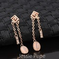 Jessie Pepe Italina Elegant  Drop Earrings Brinco  Rose Gold Plated Top Quality Welcome Wholesale#JP86727