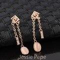 Jessie Pepe Italina Elegante Brincos Brinco Rose Banhado A Ouro Top Quality Bem-vindo Atacado # JP86727