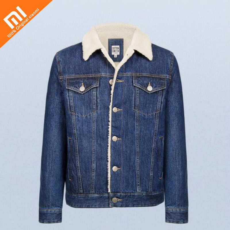 original xiaomi mijia Cashmere denim jacket 100 cotton fashion wild soft comfortable men s denim jacket