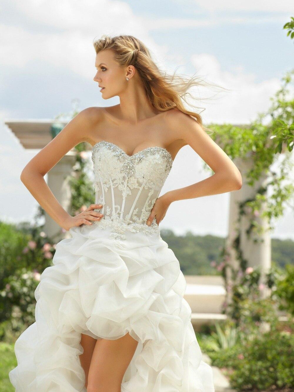 short sexy wedding dresses short sexy wedding dresses Off Shoulder Midi Wedding Dress With Split Front