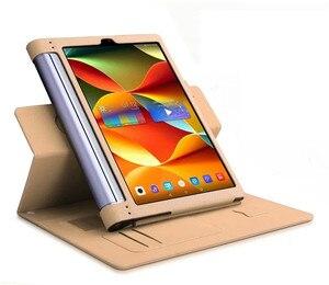 Image 4 - Lichee padrão yoga tab 3 mais suporte caso de couro do plutônio para lenovo yoga tab 3 pro 10 x90 x90f x90l capa de couro YT X703L x703f