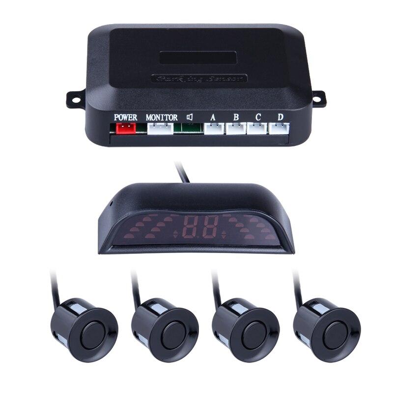 4 Sensors For Parking LED Sisplay Car Parktronic Radar Monitor Detector System Reverse Backup Car Parking