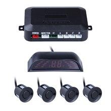 4 Sensors For Parking LED Sisplay Car Parktronic Radar Monitor Detector System Reverse Backup Car Parking Sensor