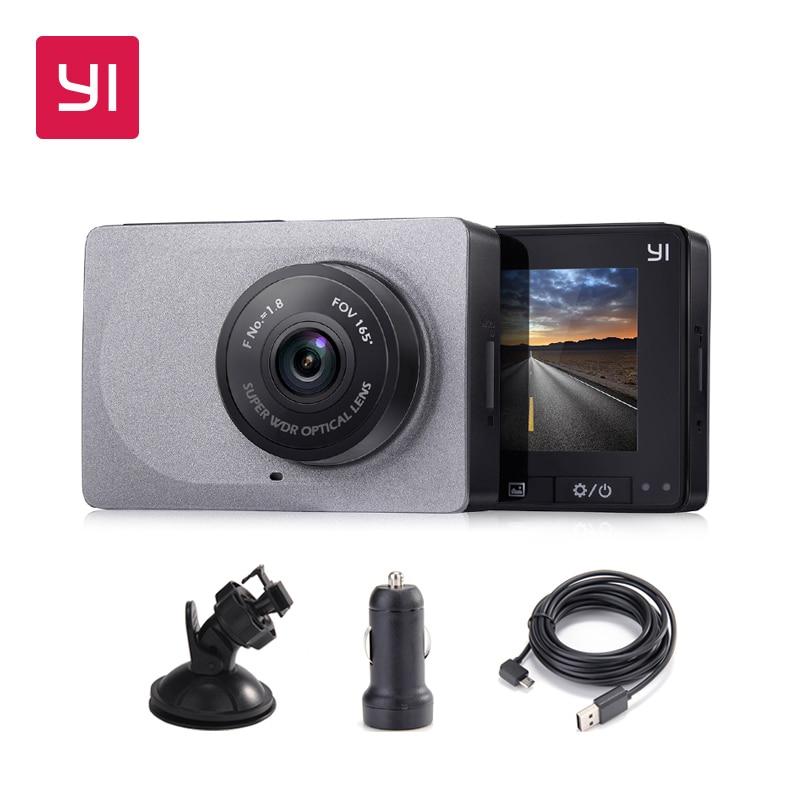 "Image 2 - YI Smart Dash Camera Full HD Car DVR Cam Video Recorder WiFi  Night Vision 1080P 2.7"" 165 Degree 60fps Camera Grey Car Recording-in DVR/Dash Camera from Automobiles & Motorcycles"
