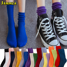 3Pairs/Lot Women Solid Hiphop Fashion Harajuku Short Socks Student Cotton Casual Skateboard Sporty Street Dancing Pile of