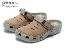 Tejido deportivo de cuero dropship hombres yukon zuecos sandalia zapato ocasional ocio resina hook loop zapatillas de marca 29 cm de gran tamaño 45