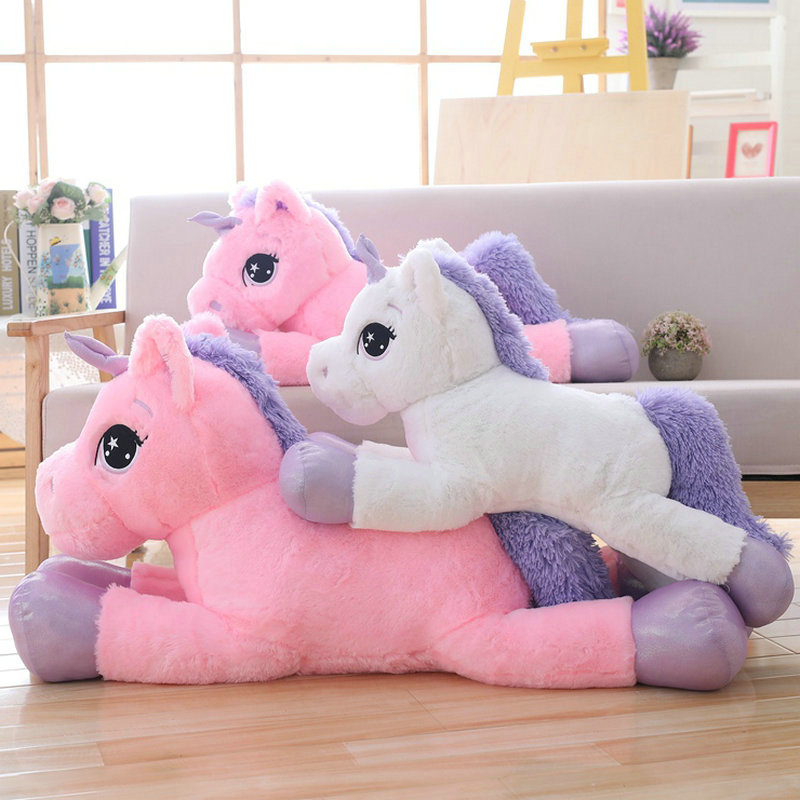 Giant 80/110cm Unicorn Plush Toy Soft Stuffed Cartoon Unicorn Dolls Animal Horse High Quality Christmas Gift for Children Girls