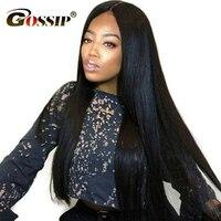 180 Glueless полный парик шнурка бразильский полный парик шнурка с волосами младенца сплетни прямые человеческие волосы парики для женщин remy пар