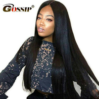 180 Glueless Full Lace Wigs Brazilian Full Lace Wig With Baby Hair Gossip Straight Human Hair Wigs For Women Remy Hair Human Wig