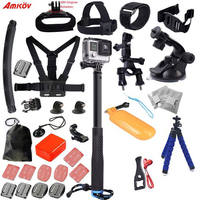 Hot Sell Sport Camera Accessories Set Kit Mount Chest Head Strap Car Holder for Go Pro Hero3 / Xiaoyi Mi Accessories Kit
