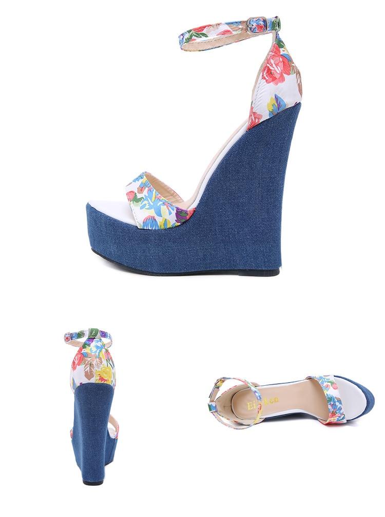 HTB1Nwnec6fguuRjSspaq6yXVXXa7 Eilyken 2019 New Designer Print Denim Sandals Roman Sandals High Quality Wedges High Heels Peep-Toe Platform Shoes Woman