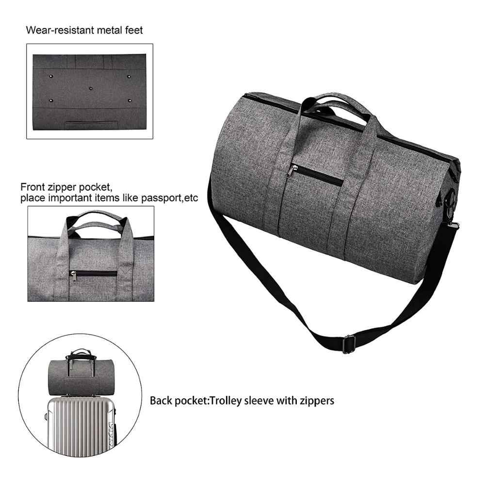 d700e07dc28b Convertible Garment Bag ,Travel Handbag Luggage Bags Business Large Suit  Duffle Bag Men Women 2 in 1 Hanging Suitcase Suit Bags