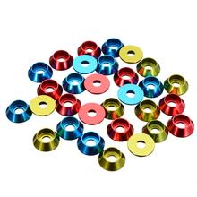 10Pcs/set M3 3mm Alloy Aluminium Countersunk Washer Head Bolt Gasket For RC Car Model Red Blue Green