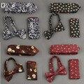 UR 02 Impressão Multicolor de Algodão Set Tie Tie Bow Tie Bolso Praça Lenço Toalha Papilon Gravata Corbata Gravata Do Noivo Do Casamento