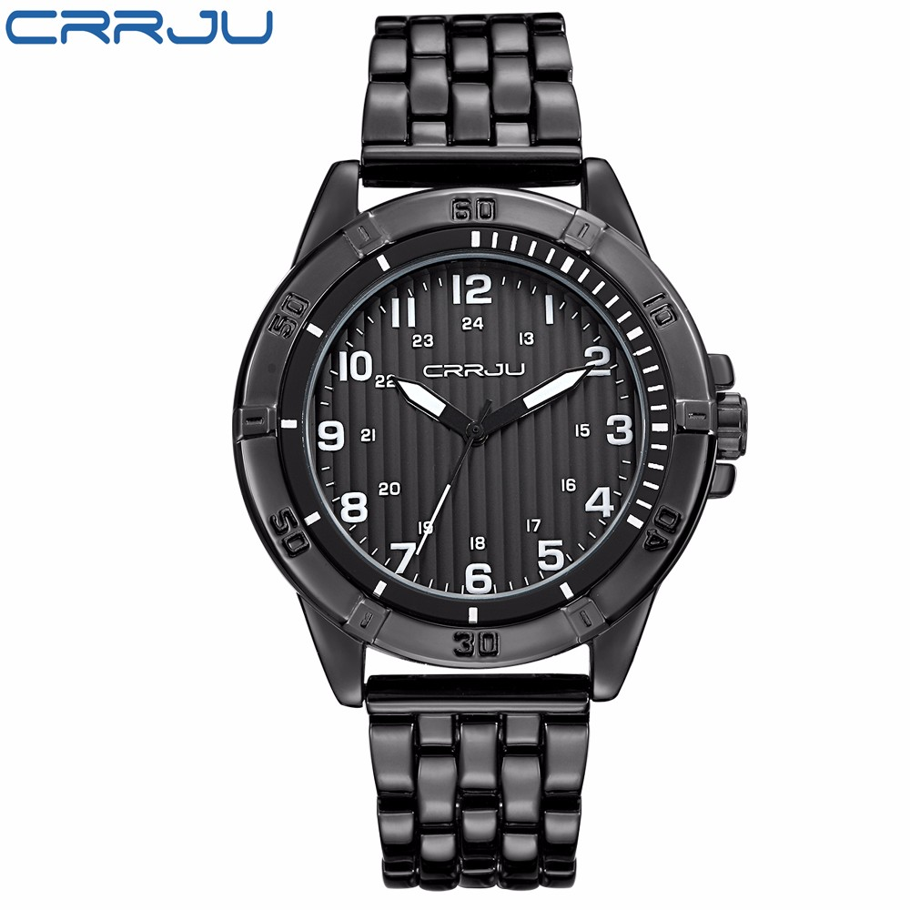 CRRJU Top Luxury Brand Fashion Men Watch Quartz Watch Stainless Steel Casual Watches Man Military Wrist watch Relogio Masculino  2016 new high quality women dress watch crrju luxury brand stainless steel watches fashion wrist gift watch men wristwatches