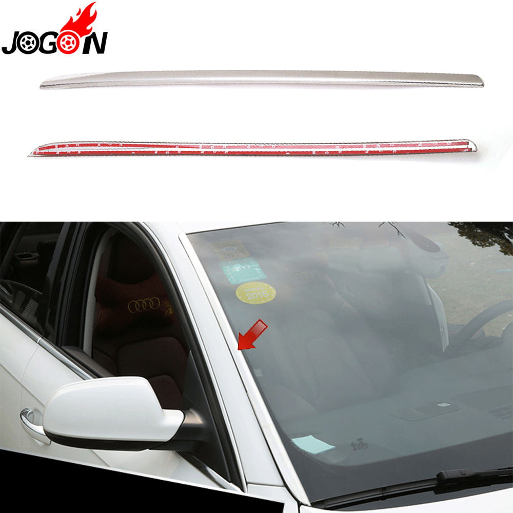 Bright Stainless Steel For Audi A3 8V A4 B8 B9 A6 C7 Q5 8R 2009 - 2018 Car Front Rain Window Windshield Side Strip Cover Trim игрушка motormax audi q5 73385
