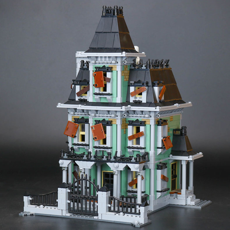 Lepin 16007 2141Pcs Monster Fighter The Haunted House Model Set legoing 10228 Educational Building Blocks Bricks Halloween Gifts the monster next door