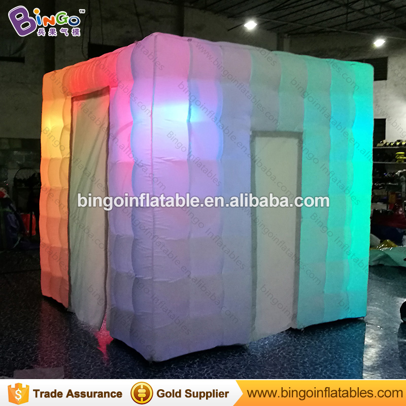 Free shipping Portable inflatable cube photo kiosk booth tent with led lighting toy tent  free shipping 3x3x2 4m inflatable photo booth cube inflatable photo booth led inflatable photo booth for sale