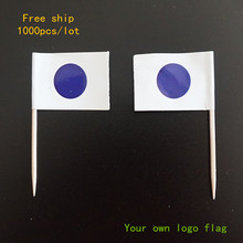 Toothpick flags, Customer design flag, Cake topper, your own logo flags, total1000pcs, 100pcs/bag, Free ship