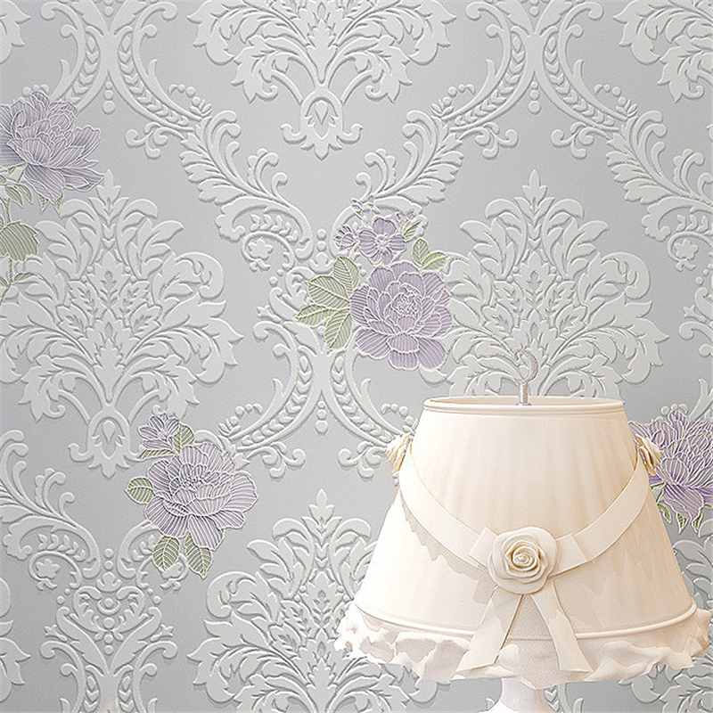 все цены на beibehang pastoral non woven relief papel de parede 3D mural wallpaper roll wallcovering wall paper roll floral papel de parede онлайн
