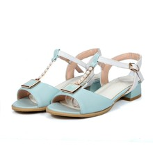 2017 Real New Sapato Feminino Gladiator Sandals Women Big Si