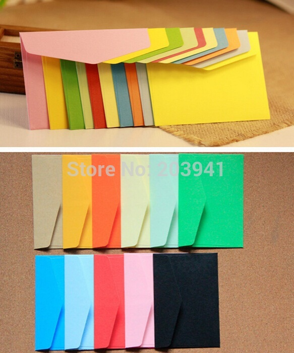 10pcs/lot 115mm*80mm DIY Multifunction Paper Envelope Candy Color Invitation Greeting Cards Gift Cover Wallet Window Envelope