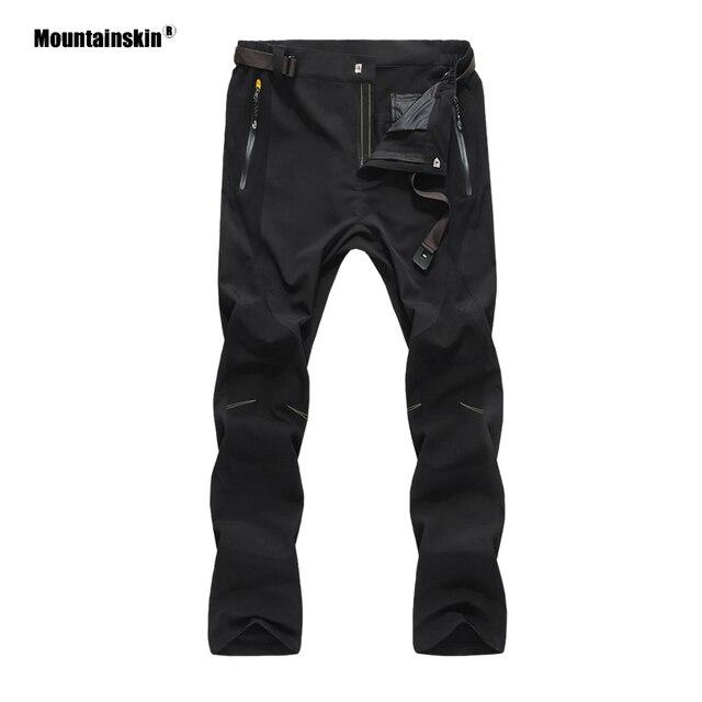 Mountainskin קיץ Mens ספורט טיולים מכנסיים קל במיוחד לנשימה דוחה מים חיצוני קמפינג טרקים זכר מכנסיים VA374